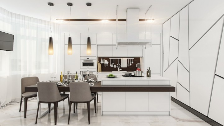 Modern-Kitchen-White-Gray-Chairs-Home-Design-Newman-Construction