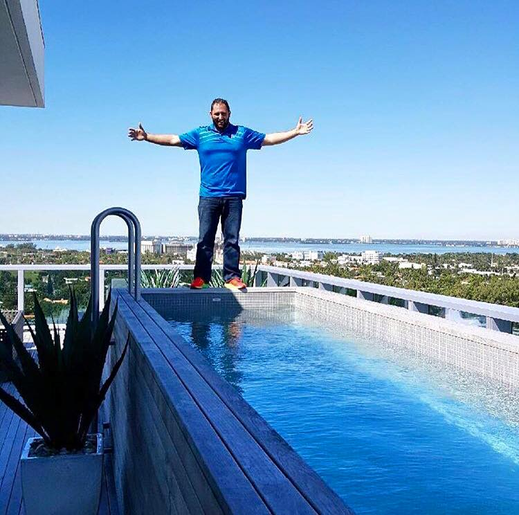 Rooftop pool renovation by the penthouse boss for Miami swimming pool contractors