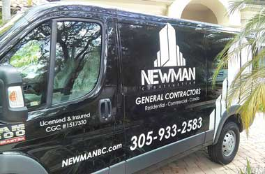 Newman Construction Van